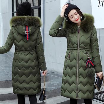 Μακρύ χειμωνιάτικο γυναικείο μπουφάν με πολύ ωραίο κολάρο - 6 χρώματα