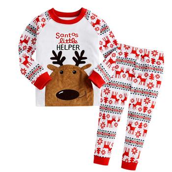 Сладка зимна пижама за момчета и момичета с изображение