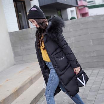 Μακρύ χειμωνιάτικο γυναικείο μπουφάν με κουκούλα  και βαθιές τσέπες σε διάφορα χρώματα