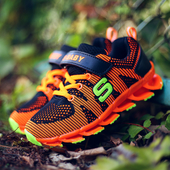Цветни спортни маратонки за момчета и момичета с лепенки и устойчива подметка