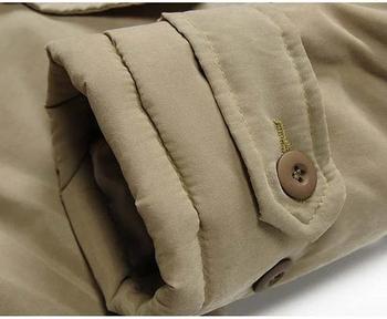 Κομψό ανδρικό χειμωνιάτικο μπουφάν με κουκούλα και χνούδι σε τέσσερα χρώματα