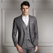 Модерен мъжки костюм от 3 части в различни цветове
