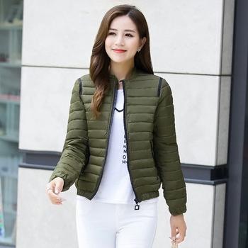 Μοντέρνο γυναικείο λεπτό μπουφάνγια το  φθινόπωρο με μεγάλες τσέπες