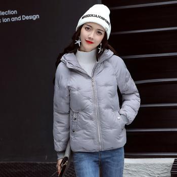 Χειμερινό χοντρό γυναικείο μπουφάν με  κολάρο σε διάφορα χρώματα