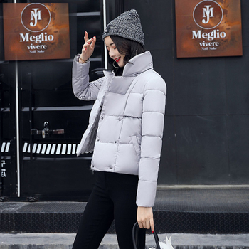 Актуален модел дамско есенно-зимно яке с дебела яка
