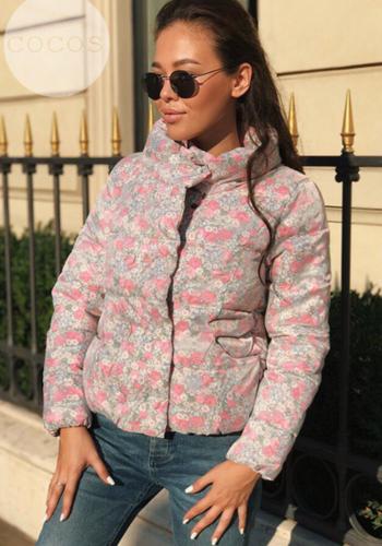 Зимно дамско яке в шарени десени - 4 модела