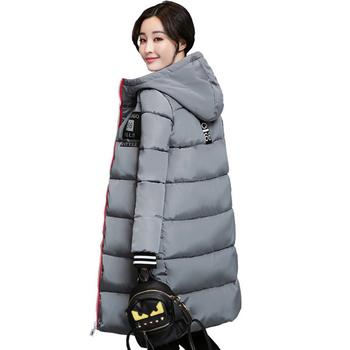 Дълго зимно яке за дамите в спортен модел с качулка, в няколко цвята