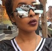 Слънчеви дамски очила с огледални стъкла