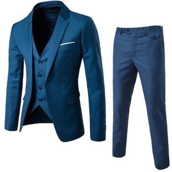 Мъжки елегантен костюм от 3 части - панталон, елек и смокинг