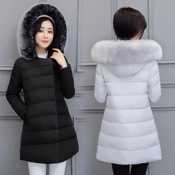 Κομψό μακρύ μπουφάν για το χειμώνα με κουκούλα και σε διάφορα χρώματα