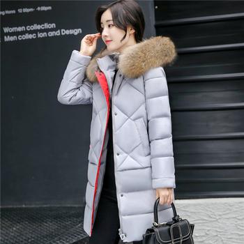 Μακρύ χειμωνιάτικο  γυναικείο μπουφάν  με κουκούλα και πλήθος χρωμάτων