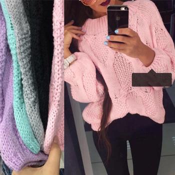 Удобен и много мек дамски пуловер с О-образна яка - няколко цвята