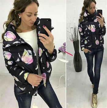 Καθημερινό γυναικείο μπουφάν με έγχρωμη εκτύπωση, 6 χρωμάτων