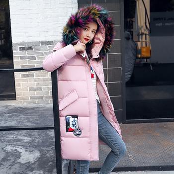 Κομψό γυναικείο μπουφάν με γούνα στο κολάρο, διάφορα χρώματα