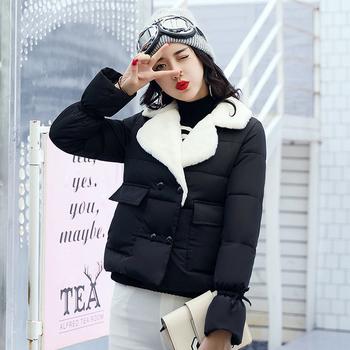Κομψό καθημερινό γυναικείο μπουφάν με ζεστή μάλλινη επένδυση