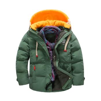 Стилно яке за момчета с цветна качулка в четири цвята