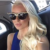 Актуални дамски слънчеви очила с лъскави камъчета