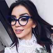 Дамски очила с прозрачни стъкла и интересна рамка,6 модела