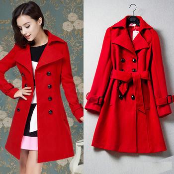 Κομψό γυναικείο παλτό σε κόκκινο χρώμα 600f011e7c3