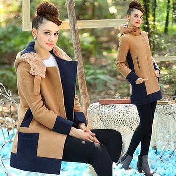 Ежедневено топло дамско яке с вълнена подплата и качулка