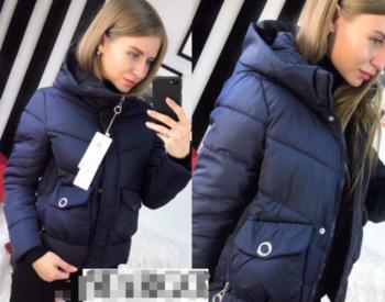 Κοντό γυναικείο μπουφάν με κουκούλα για το χειμώνα, 4 χρώματα