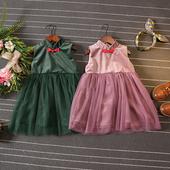 Сладка детска рокля в два цвята с тюл