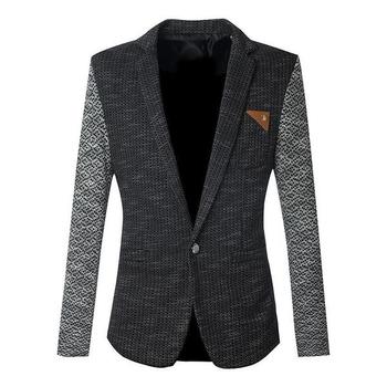 Плетено елегантно сако за мъжете в три цвята