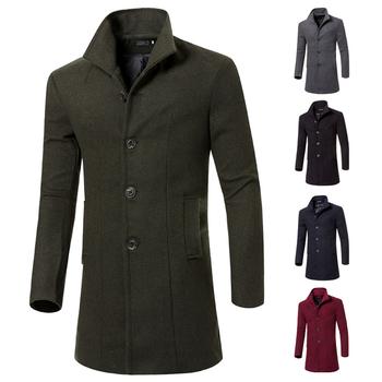 4e1ffeecf25 Κομψό μακρύ ανδρικό παλτό σε διάφορα χρώματα σε απλό σχεδιασμό ...