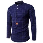Елегантна мъжка риза тип слим на каре