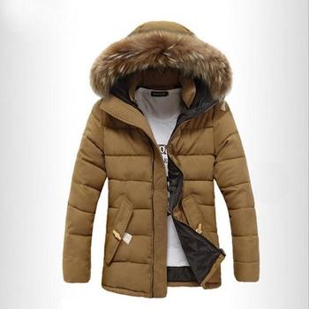 Топло мъжко зимно яке с качулка и пух, в три цвята