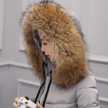 Γυναικείο μακρύ μπουφάν με γούνα σε διάφορα χρώματα