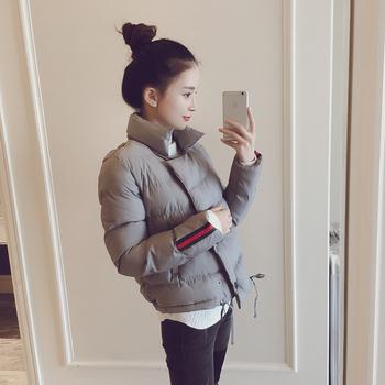 Късо дамско спортно зимно яке в няколко цвята