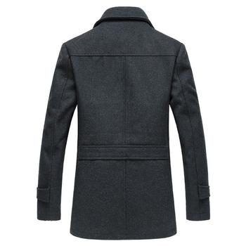 Άνετο ανδρικό παλτό με κουμπιά, φερμουάρ και άνετες τσέπες