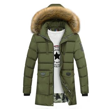 Стилно дълго зимно яке с качулка и с пух в няколко цвята