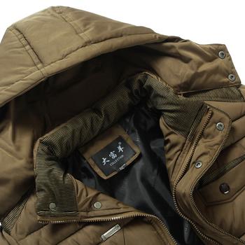 Χειμερινό ανδρικό μπουφάν σε απλό μοντέλο με κουκούλα