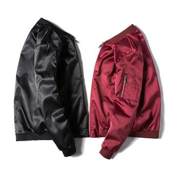 Κομψό ανδρικό μπουφάν σε κόκκινο και μαύρο χρώμα