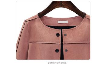 Елегантно дамско яке с копчета в розов цвят