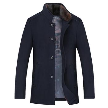 Καθημερινά πολύ άνετα και ζεστά ανδρικά παλτά με κολάρο σε σχήμα O