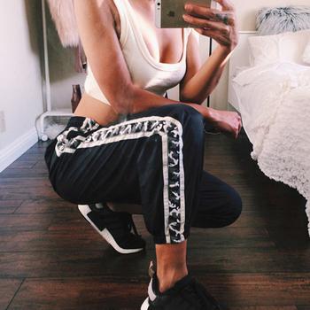 Стилен спортен дамски панталон в широк модел