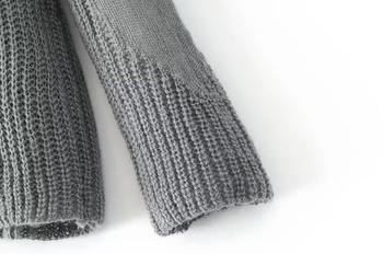 Ежедневен плетен дамски пуловер в няколко цвята