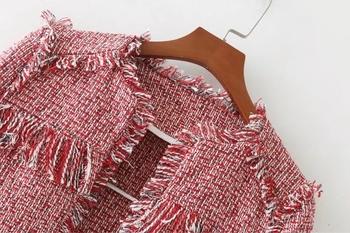Ежедневно есенно дамско яке в червен цвят