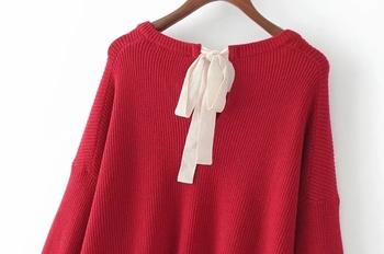 Семпъл дамски плетен пуловер в няколко цвята