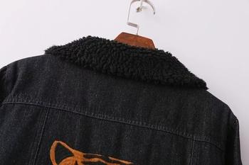 Μοντέρνο ζεστό γυναικείο τζιν μπουφάν