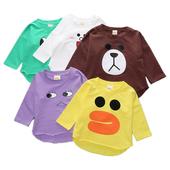 Детска ежедневна блуза в различни цветове и апликации