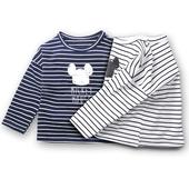 Ежедневна детска блуза за момчета и момичета на райе с изображение