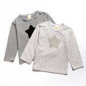 Детска блуза за момичета и момчета с апликация звезда