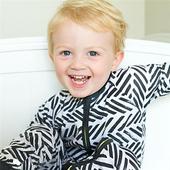Гащеризон за бебе - унисекс в черно-бял цвят