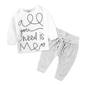 Ежедневен бебешки комплект - панталон и блуза
