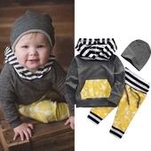 Есенен комплект за момчета - панталон, суичър и шапка