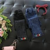 Есенни детски дънки за момичета в два цвята, подходящи за ежедневие